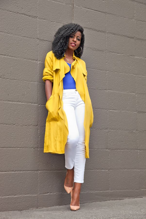 Trench Coat + Bodysuit + Ankle Jeans. Yellow Trench CoatWomen's ... - 25+ Best Yellow Trench Coat Ideas On Pinterest Fendi Clutch