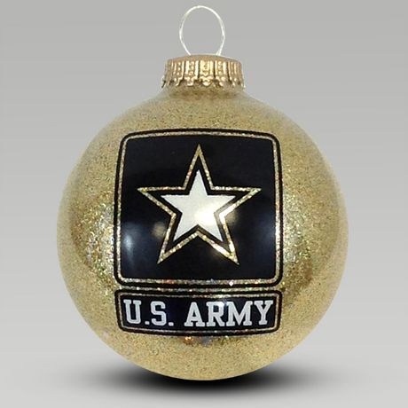 Army Sparkle Ornament