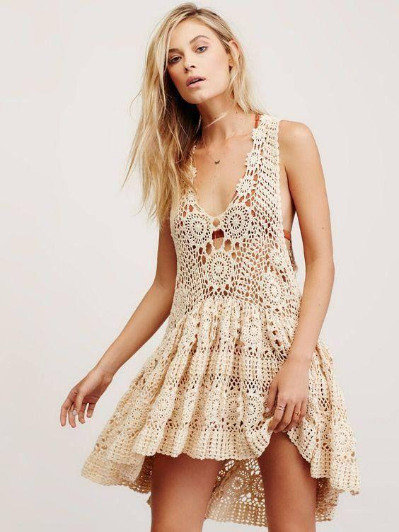 crochet summer dress handmade item gift ideas beach