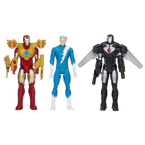 Marvel Avengers Titan Hero 3-Pack Quicksilver, Marvel's War Machine, and Iron Man