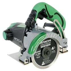 """The Hitachi CM4SB2 4"""" Dry-Cut Masonry Saw cuts smoothly through tile, marble, granite, concrete, brick and similar materials. It is the ideal dry-cut saw for professionals who demand a workhorse of a tool at a competitive value."""