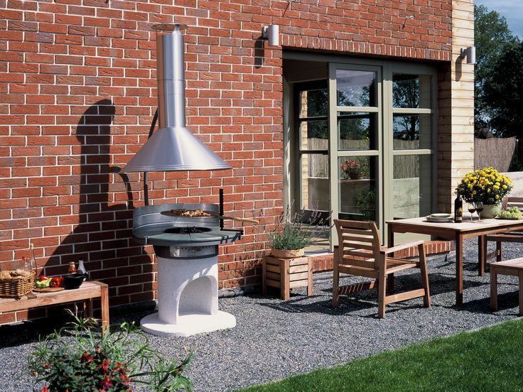 Zahradní krb Astra s nerezovou střechou / Gardenfireplace , Gartengrillkamin /