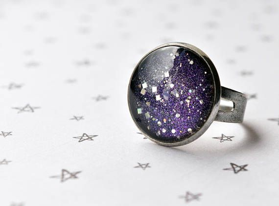 Galaxy Ring Star Ring Astronomy Jewellery Adjustable Ring