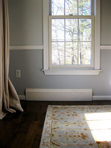 Rapid fit baseboard over old baseboard, Lowes,pewter+sage: Upgrading our Baseboard Trim: Part 1
