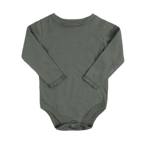 organice long sleeve onesie - mini mioche - organic infant clothing and kids clothes - made in Canada