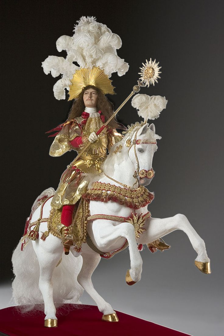 "Louis XIV (equestrian) aka. Louis XIV of France, ""The Sun King"". A portrait in mixed media by George Stuart."