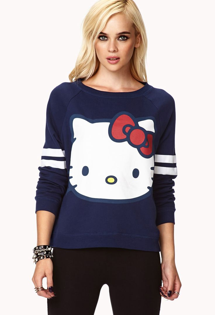 Design your own hello kitty t-shirt - Hello Kitty Raglan Sweatshirt Forever21 2000050266