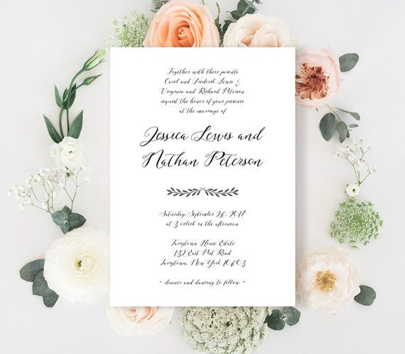 34 best Wedding Invitations by MP images on Pinterest Wedding - bridal shower invitation templates for word