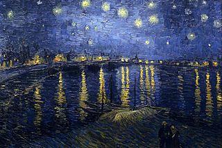 """Blautöne in """"Sternennacht über der Rhone"""" von van Gogh."""