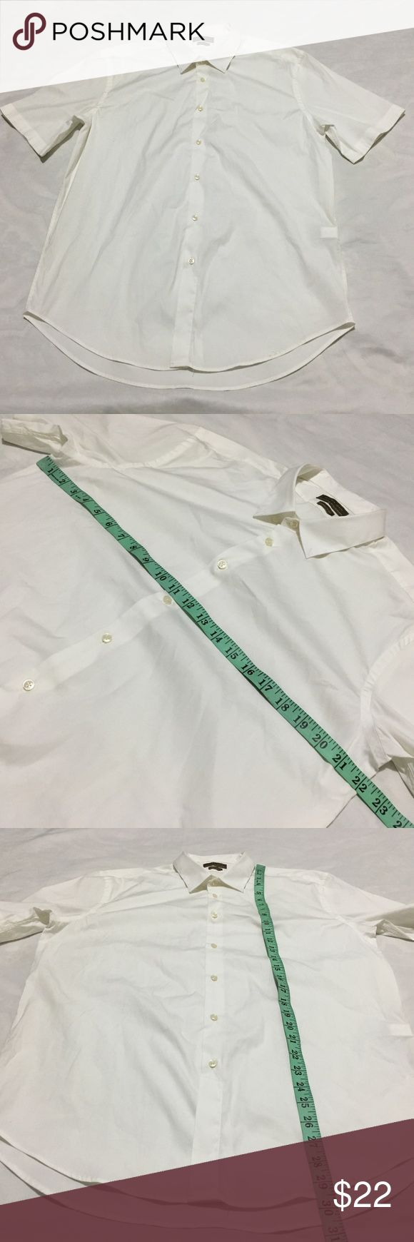 "ZARA MAN short sleeve men shirt SUPPER SLIM FIT These are *Gently Used*Excellent condition .Please see photos for color, style and measurements.  The tag does have a ""XXL""   BUT MEASURES MATCH WITH  Large size. Please view  pictures to view   the measures. ZARA Shirts Dress Shirts"
