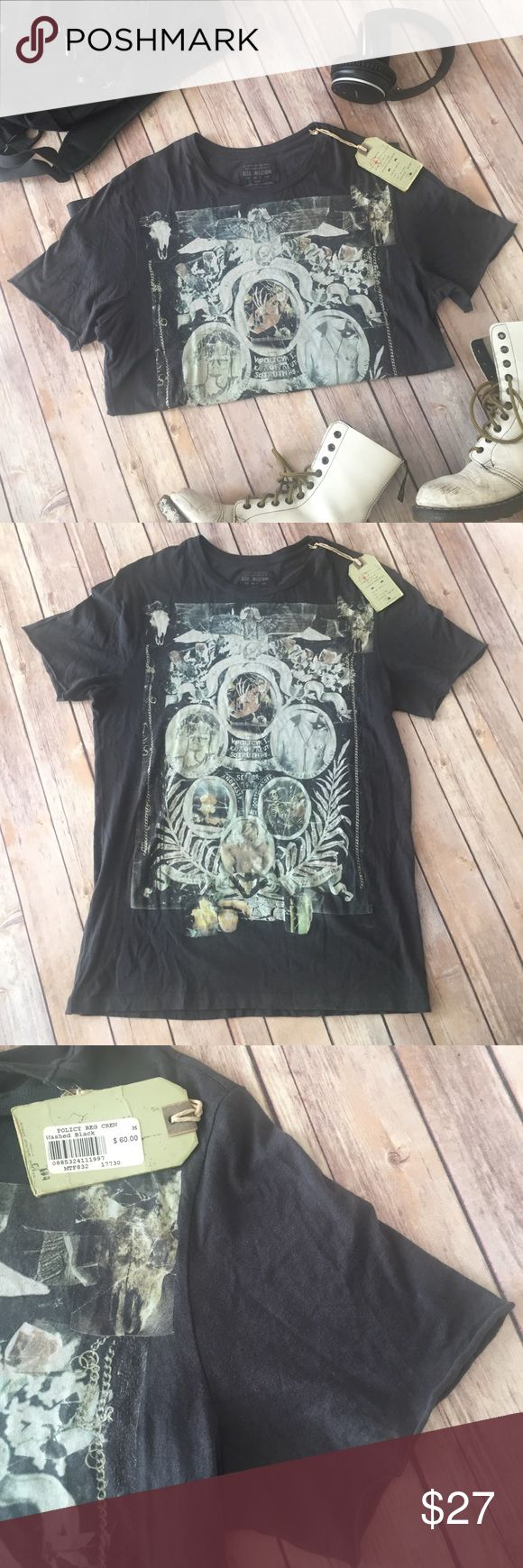 """ALLSAINT SPITALFIELDS Gray graphic T-shirt Men's Medium Soft 100% cotton t-shirt with seam-free sleeves (rolled edge). 29"""" long, 9"""" wide, 8"""" sleeve. NWT. Allsaints Spitalfields Shirts Tees - Short Sleeve"""
