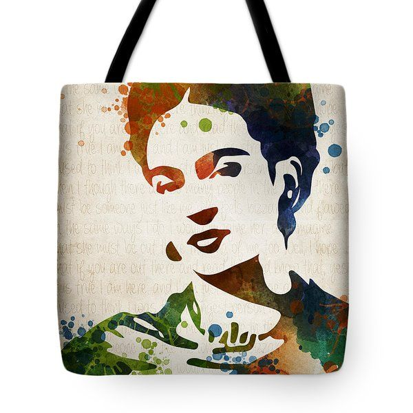 Frida Kahlo Tote Bag by Mihaela Pater