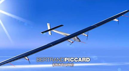 Bertrand Piccard's solar-powered adventure  For the dawn of a new decade, adventurer Bertrand Piccard offers us a challenge: Find motivation in what seems impossible. He shares his own plans to do what many say can't be done -- to fly around the world, day and night, in a solar-powered aircraft.