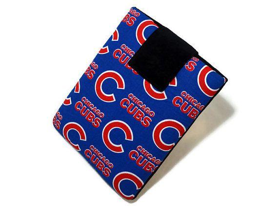 Tablet Case, iPad Cover, Chicago Cubs, MLB, Baseball, Kindle Fire Cover, 7, 8, 9, 10 inch Tablet Sleeve, Cozy, Handmade, FOAM Padding #tabletcase #ipadcase #ipadmini #ipadcover #Chicago #cubs #MLB #baseball #sports #fathersday #etsy #handmade #foam