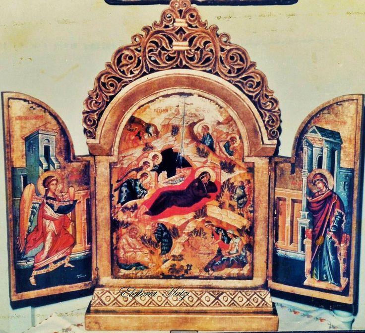 Τρίπτυχο ζωγραφική απο την Ελευθερια Χατζη.