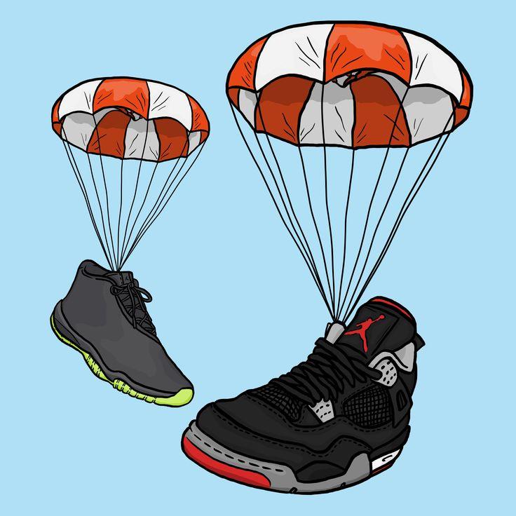 Air Jordans #daleillustration sneaker art