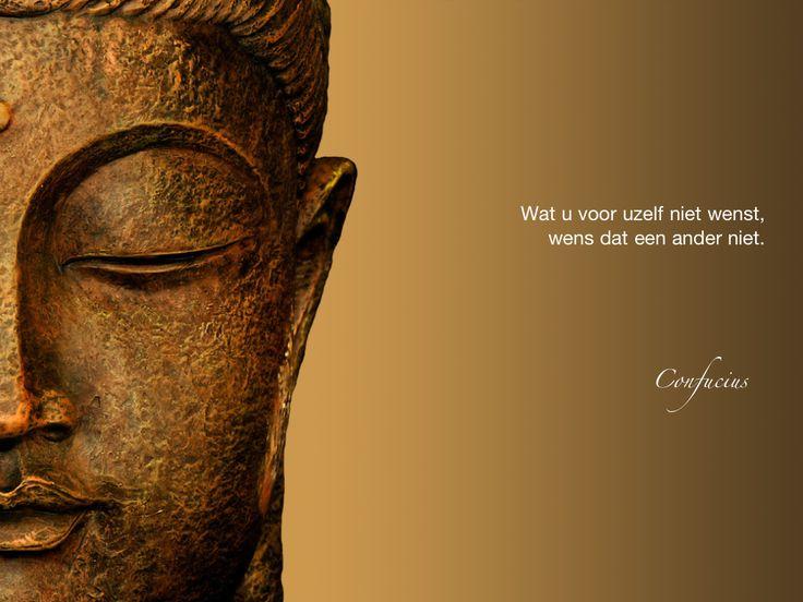 Wat u voor uzelf niet wenst, wens dat een ander niet. / Confucius