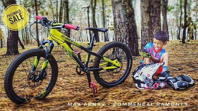 """PREOWNED SALE.  @max.arnav is  upgrading  to a 24"""" Mountain Bike. He is looking for a 6 year old who loves biking & will love this bike as much as he does takes good care of it take it out to beautiful trails & attempt all that he wishes on SICK Trails. Message us here or DM his dad @gman.ktm #mtbmagasia #commencalbike #epicmountainbike #sdgcomponents #fiftyfifty #ramones #preowned #salepost SHOP ONLINE with HBL VISA CARD to get 10% Monthly Cashback >> https://buff.ly/2obNuQQ . . . .  . ."""