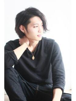 斎藤工風☆かっこいいメンズの黒髪ウェットショートボブ