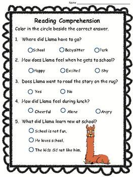 LLAMA LLAMA MISSES MAMA {LITERACY AND MATH PACK} - TeachersPayTeachers.com