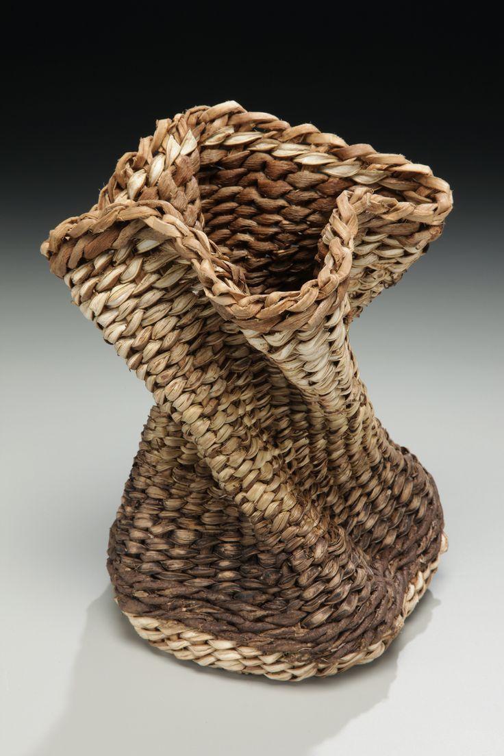 Freeform Kudzu Basket with Black Walnut Dye by Matt Tommey