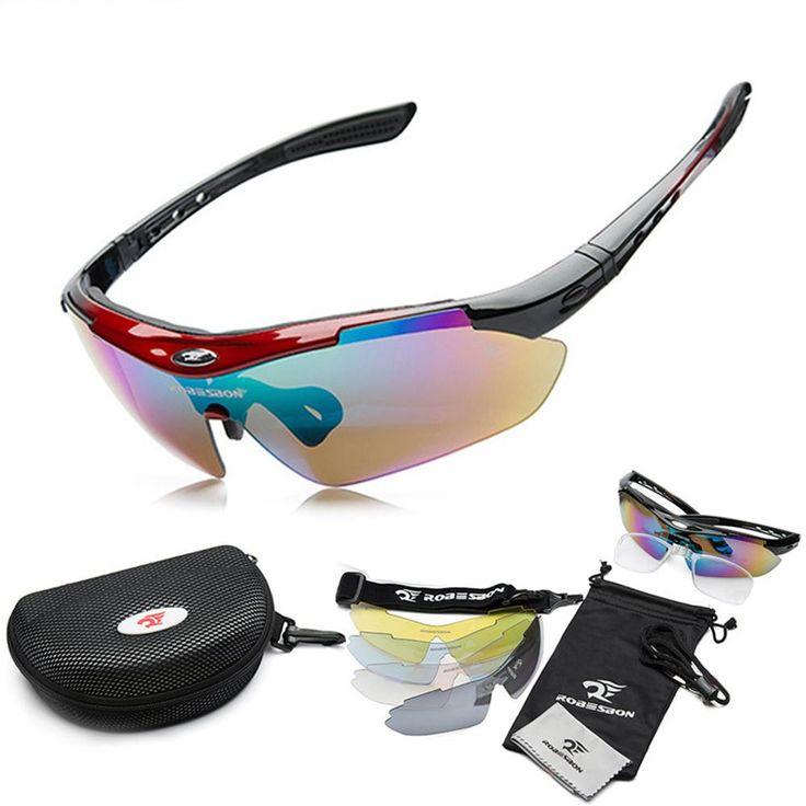 2016 Men Women Eyewear Polarized Sunglasses Outdoor UV400 Sports Camping Cycling Sun Glasses 5 Lens Polaroid