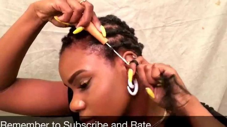 How To Get A Curly Bob Using Rubber Bands Perm Rods And