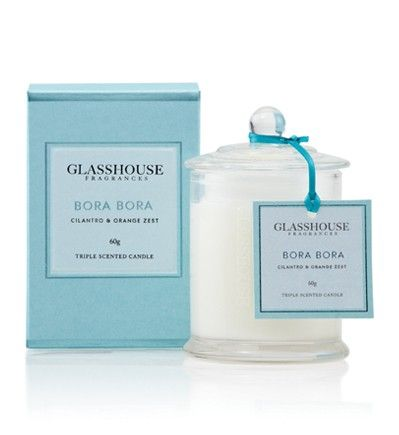 Inspired by remote holidays where thatched bungalows hover over clear aqua waters. This exhilarating fragrance beams with tangy Cilantro, zesty Tangerine and sparkling Orange Blossom.