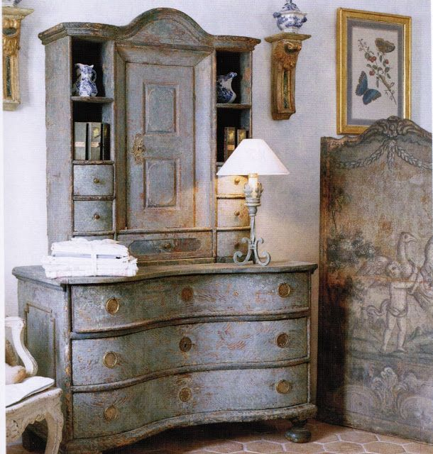 317 best images about painted gilt furniture boiserie for Decoration cottage maison