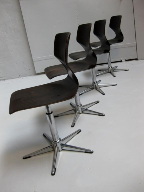FLOTOTTO, Krzesła obrotowe x 4, DESIGN 50/60