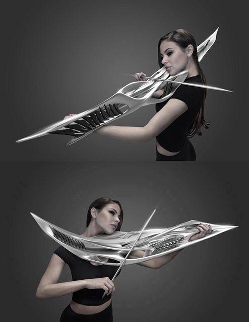 電子バイオリンのデザインが完全にSFの武器だと話題に!