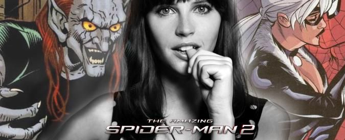 "Felicity Jones Confirms She Has A Costume In THE AMAZING SPIDER-MAN 2: ""I'm the Goblin's girlfriend...I'm on the dark side."" (Will she be Menace or Black Cat?)"