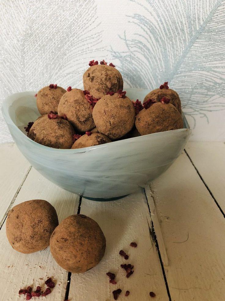 chocolate and raspberry truffles — Wright Health
