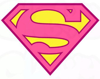 Pink Superman - Logo ~ Iron On Fabric Transfers Tshirt Iron-on ~ #031