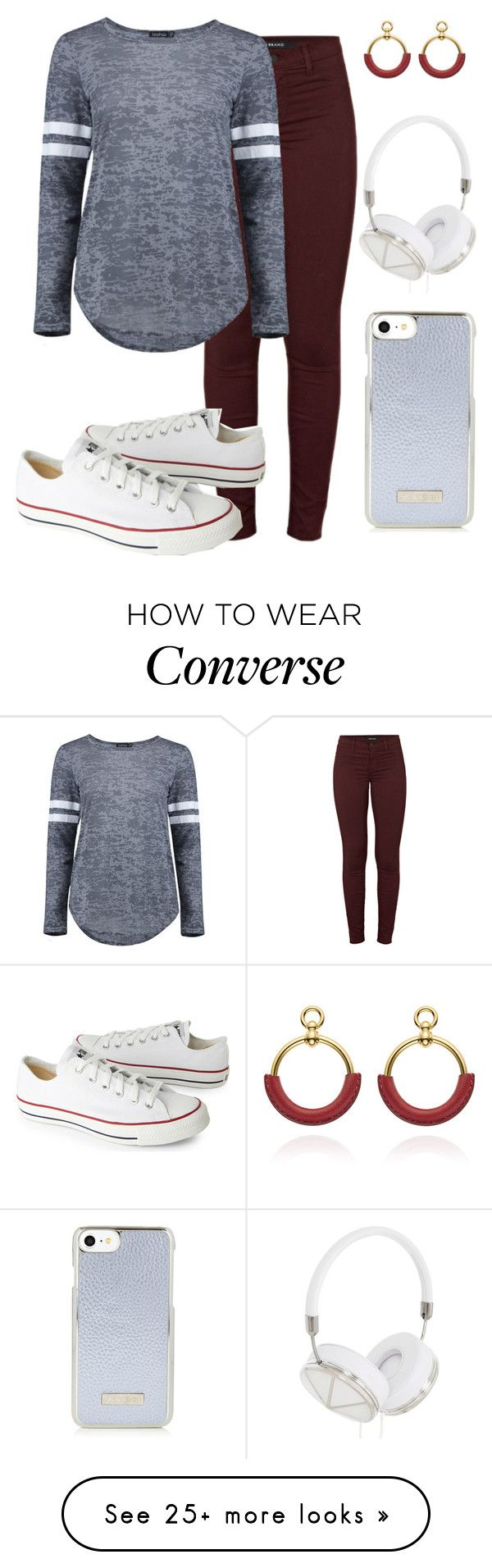 """""""Untitled #158"""" by rozlynjanine on Polyvore featuring J Brand, Boohoo, Converse and Frends"""