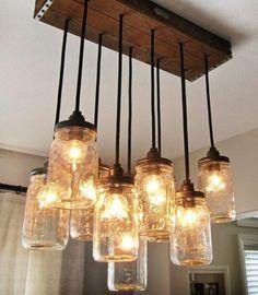 Einweckgläser kreative handgemachte Lampen idee