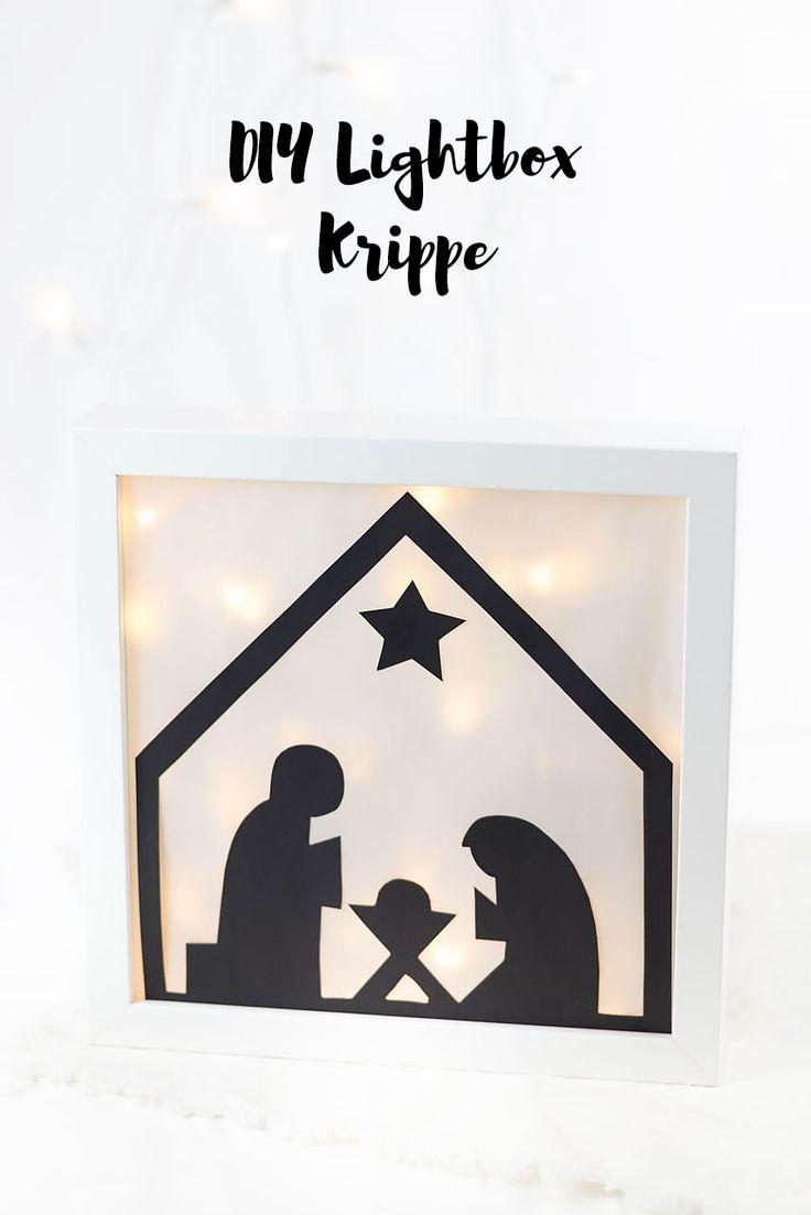 Schlichte DIY Lightbox Krippe basteln - perfekt für jeden Puristen - Ikea Hack Ribba