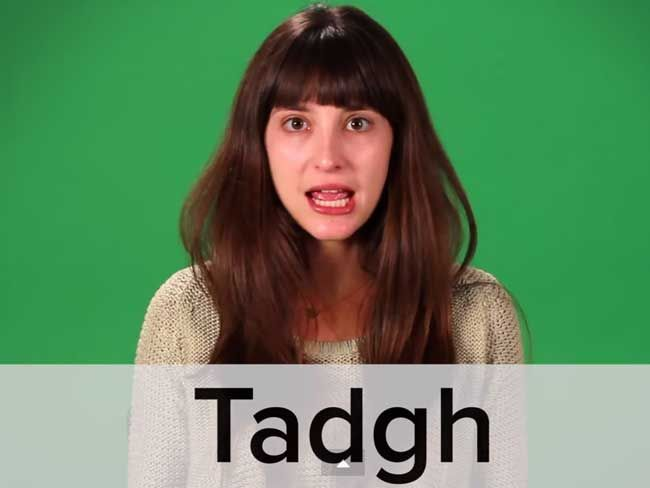 How to pronounce some Irish names!