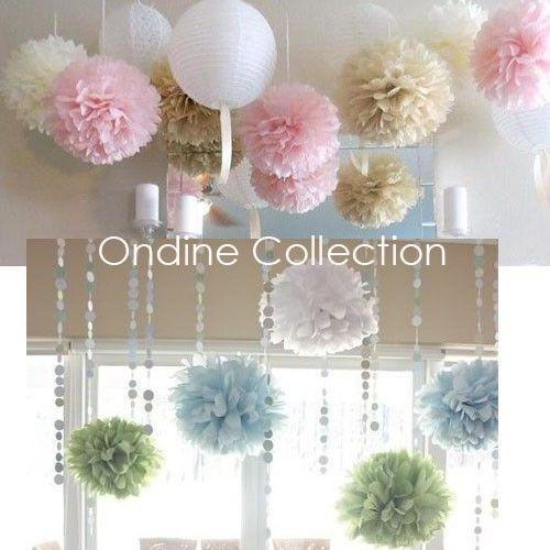 Como hacer pompones de papel china yahoo image search - Como hacer adornos para fiestas ...