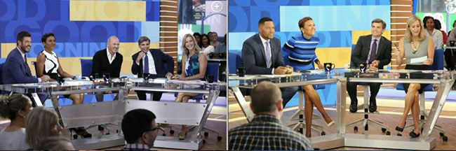 ABC Builds a New Set to Cover George Stephanopoulos' Tiny, Short, Dangling Little Boy Legs