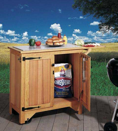 Build This Barbecue Cart As A Way Of Saving Some Effort. Itu0027s Sturdy Enough  To Wheel Around Outside And Large Enough To Store One Or More Bags Of  Charcoal.