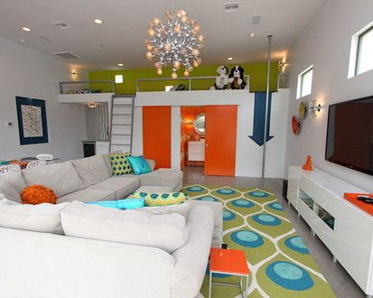 Play Guest House, Contemporary Family Room, Phoenix