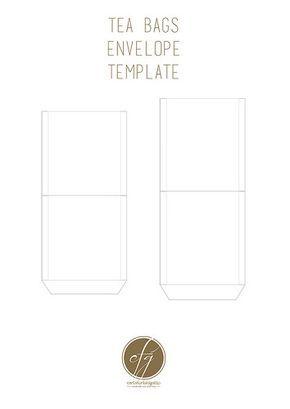 free printable tea bag envelopes cards pinterest tea envelope
