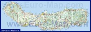 Карта острова Сан-Мигель