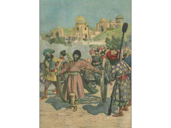 This form of public execution by cannon may have been used prior to Abd al-Rahman's reign in Kabul but it became more common there during his reign. The practice of staged state killing for public display continued well into the twentieth century.