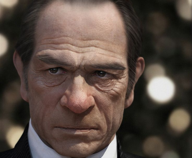holy shit! this is awesome...Tommy Lee Jones by SiYoung Lee | 3ds Max, ZBrush, Vray, Photoshop