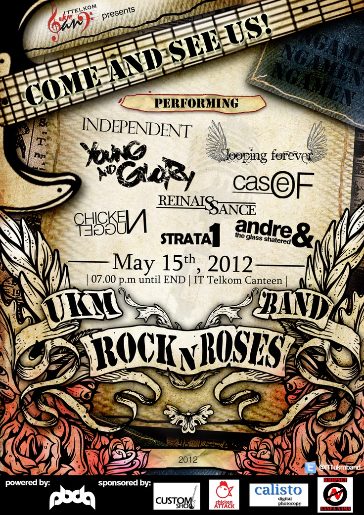 UKM Band Rock n Roses Poster Design
