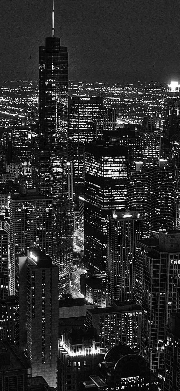 Iphone X Wallpaper : ml84-city-view-night-dark-bw via iPhoneXpapers.com Wallpape… – JAN GRNWD