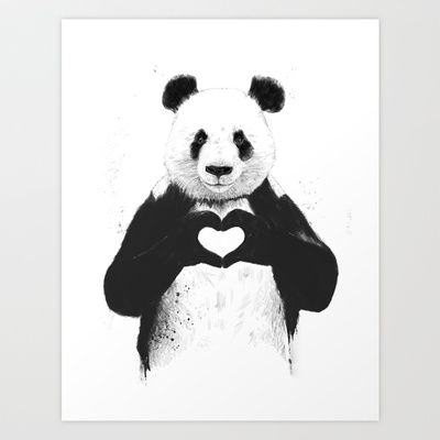 All you need is love Art Print by Balázs Solti - $14.00
