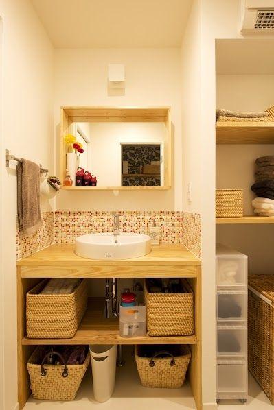 トイレ/バス事例:洗面2(J邸・和モダンスタイル 光と風が通る心地よい住まい)